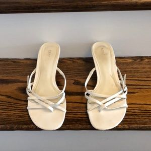 Fioni White Strap Sandal with heel